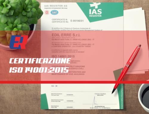 Certificazione UNI EN ISO 14001:2015